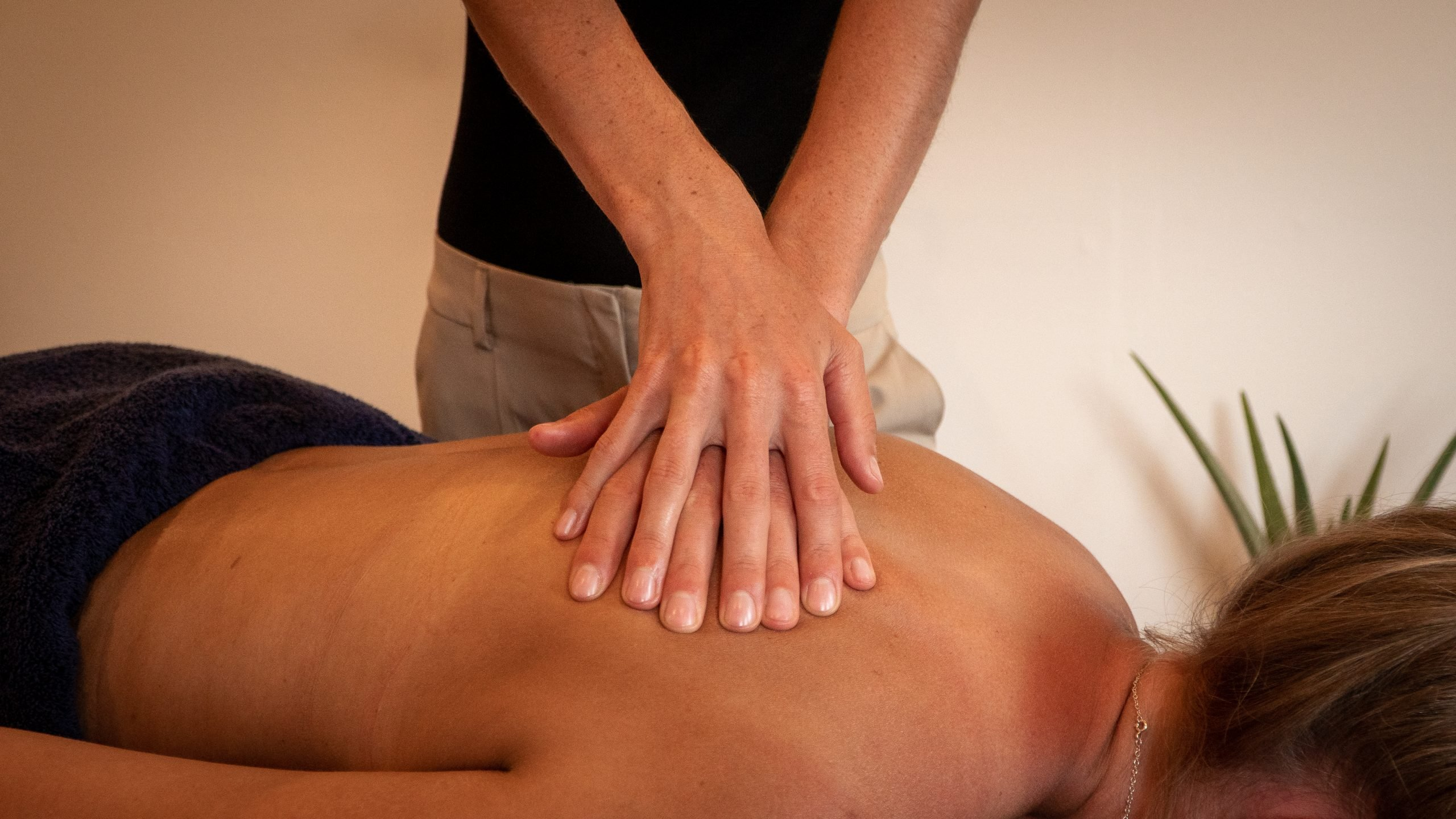 Deep Tissue Massage for the upper back and shoulders.