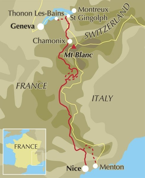 gr5 hiking route from thonon to nice